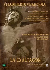"""La V. H. del Stmo. Cristo del Perdón celebra el 28 de marzo la VI edición de su Concierto de Cuaresma """"La Exaltación"""""""