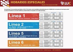 Los autobuses urbanos de Cuenca, salvo la línea 6 que llega al hospital, pasan a tener una frecuencia de una hora desde este lunes a las 15 horas