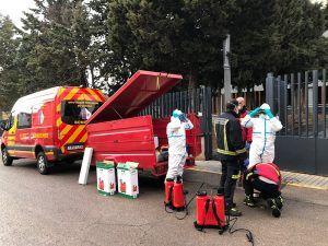 Los bomberos de la Diputación de Cuenca se ponen a disposición de las autoridades sanitarias para actuar en edificios de riesgo