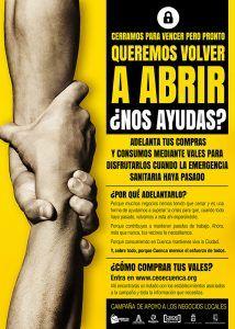 CEOE-Cepyme Cuenca lanza una campaña para comprar vales en el confinamiento y ayudar a negocios que han cerrado