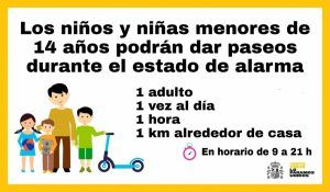 El Ayuntamiento de Cabanillas recuerda que no todo vale hay normas para la salida de niños y niñas a la calle a partir del domingo 26 de abril