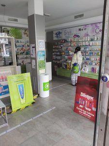 El dispositivo extraordinario de Geacam emprende trabajos de desinfección en las farmacias ubicadas en Guadalajara capital