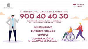El Gobierno de Castilla-La Mancha habilita el Teléfono Social para atender consultas relacionadas con el coronavirus