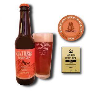 La cerveza artesana Vulturis, premiada en el Barcelona Beer Challenge 2020