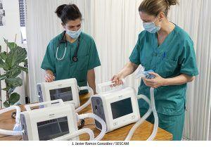 La Unidad de Cuidados Respiratorios Intermedios del Hospital de Guadalajara recibe nuevos ventiladores para el tratamiento de insuficiencia respiratoria grave