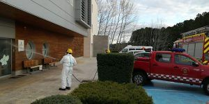 Los bomberos del Ayuntamiento de Cuenca desinfectarán las farmacias de la capital durante la semana que viene