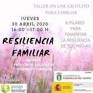 Los Servicios Sociales del Ayuntamiento de Cabanillas ofrecen un Taller Familiar on line en sustitución de la Escuela de Familias de primavera