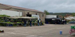Éxito de la nueva ubicación del mercadillo semanal de Sigüenza