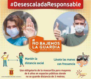 El Ayuntamiento de Cuenca pone en marcha una campaña para concienciar a los jóvenes sobre el uso de la mascarilla