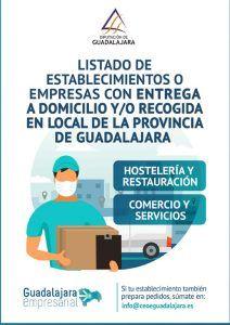 El directorio de establecimientos de la provincia de Guadalajra con servicio a domicilio crece un 60% en una semana