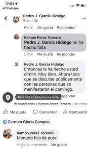 """El PP pide la dimisión del delegado de Hacienda en Cuenca, Pérez Tornero, por llamar """"hijo de puta"""" a García Hidalgo en redes sociales"""
