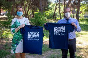 El presidente de las Cortes regionales apoya la carrera virtual solidaria de la Fundación Eurocaja Rural