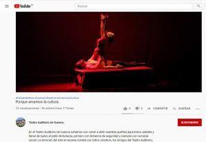 El Teatro Auditorio de Cuenca estrena canal de YouTube