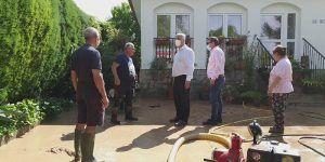 José Luis Vega supervisa actuaciones en los municipios afectados por las tormentas