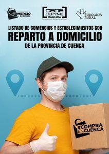 La Asociación de Comercio de Cuenca elabora un listado de los comercios que hacen entrega a domicilio en la provincia
