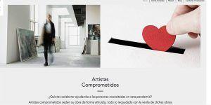 La web de artistas solidarios ya funciona a pleno rendimiento