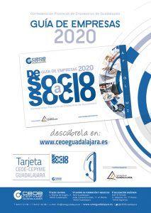 CEOE-Cepyme Guadalajara y la Diputación lanzan la guía de empresas de socio a socio 2020