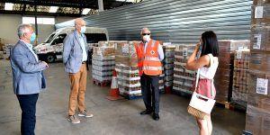 Cuenca inicia la distribución de alimentos a personas desfavorecidas, dentro del Programa de Ayuda Alimentaria 2020