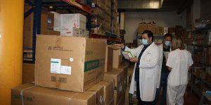 El área de Salud de Cuenca recibe del Gobierno regional otros 2.800 test rápidos y más de 22.000 artículos de protección