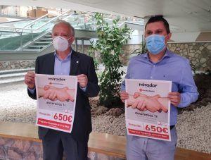 El Centro Comercial Mirador entrega 650 euros al Plan Cruz Roja RESPONDE