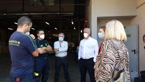 El presidente José Luis Vega se desplaza a Sigüenza para agradecer el trabajo de los bomberos del CEIS en el estado de alarma