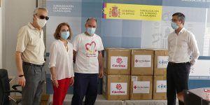 La Subdelegación del Gobierno de Guadalajara entrega 15.000 mascarillas a organizaciones sociales para su distribución a colectivos vulnerables