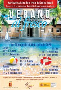 Zumba, percusión, flamenco, telas aéreas, escape room, bollywood y danza oriental en el 'Verano al fresco' del Centro Joven de Cuenca