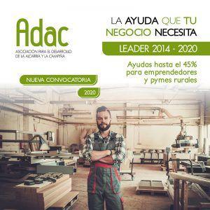ADAC lanza una nueva convocatoria de ayudas LEADER dotada con 700.000 euros para emprendedores, pymes y entidades sin ánimo de lucro