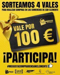 La Asociación de Comercio de Cuenca ha sorteado los 4 vales de 100 euros para comprar en los comercios de San Clemente