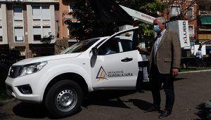La Diputación de Guadalajara equipa sus centros comarcales con cinco vehículos pick-up