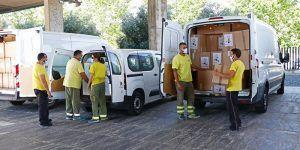 La Junta ha realizado esta semana un nuevo envío a los centros sanitarios con más de 1,7 millones de artículos de protección