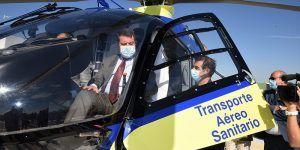 Page inaugura el nuevo helipuerto de Tarancón, el 47 de la provincia de Cuenca