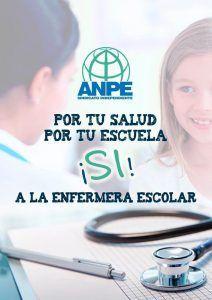 ANPE considera fundamental instaurar la figura de la enfermera escolar en los centros educativos