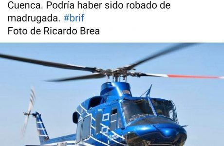 Desaparece un helicóptero de la base de la BRIF de Prado de los Esquiladores