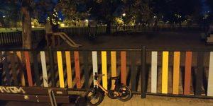 El Ayuntamiento de Cabanillas instalará alumbrado nocturno en los columpios del Parque de La Senda