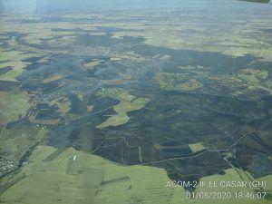 La UME se retira del incendio de El Casar donde han ardido más de mil hectáreas