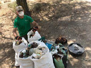 Las patrullas COVID de Geacam recogen más de 1.530 kilos de basura en áreas naturales y recreativas de la provincia de Guadalajara
