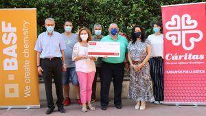 Los colaboradores de BASF recaudan 2000€ para Caritas Guadalajara