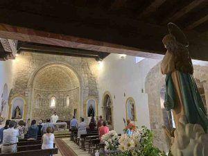 Sencillo y emotivo oficio religioso para celebrar la fiesta patronal de Cereceda