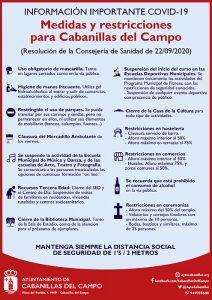 El Ayuntamiento decreta nuevas medidas en Cabanillas, siguiendo las instrucciones de obligado cumplimiento dictadas por Sanidad