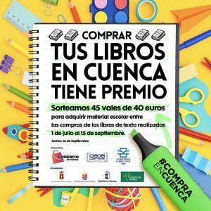 La Asociación de Libreros de Cuenca premia la fidelidad de sus clientes en la adquisición de libros de texto