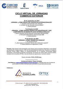 Nuevo ciclo virtual de jornadas de comercio exterior de CEOE-Cepyme Guadalajara