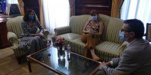 Primera toma de contacto entre la presidenta de CEOE-Cepyme Guadalajara y la nueva subdelegada del Gobierno en Guadalajara