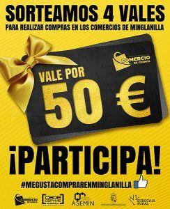 Ya se conocen los ganadores del sorteo de 4 vales de 50 de la Asociación de Comercio de Cuenca para comprar en Minglanilla