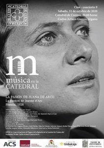 Cine-concierto, un novedoso formato de ´Música en la Catedral' para este próximo sábado en Cuenca