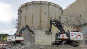 Comienza la demolición del exterior del Edificio de Contención de Zorita