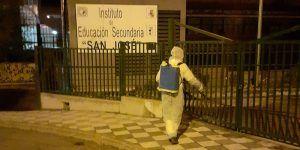 El Ayuntamiento de Cuenca retoma labores de desinfección en los entornos de centros sanitarios y educativos