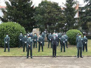 El subdelegado del Gobierno en Cuenca da la bienvenida a los nuevos suboficiales en la Comandancia de la Guardia Civil