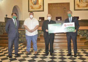 Fundación Eurocaja Rural dona a Cáritas Diocesana 11.000 euros como beneficiaria de la Carrera Virtual Solidaria celebrada en Toledo