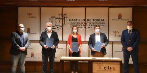 La Diputación de Guadalajara se suma al protocolo que han firmado el Gobierno regional y el Ayuntamiento de Sigüenza para la remodelación del Parque de la Alameda